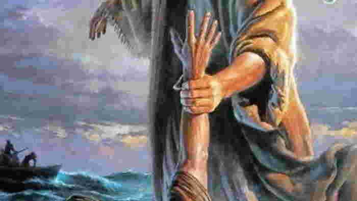 ¡Senor salvame Jesus rescata a Pedro en el mar