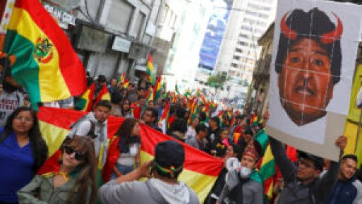 Protestas contra Evo