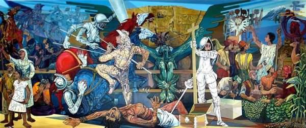 Mural indigenista boliviano