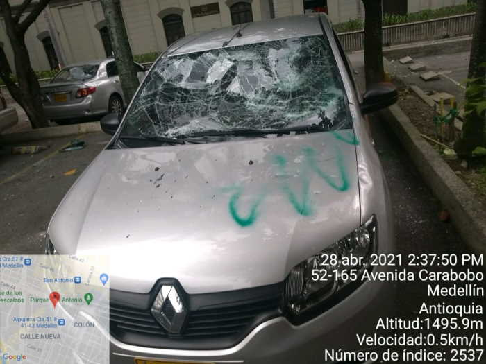 Vandalismo en Medellin 4