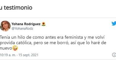 Ex feminista Johana Rodriguez