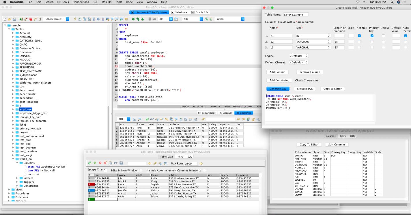 RazorSQL for Mac 8.0.0 破解版 - 优秀的数据库管理客户端