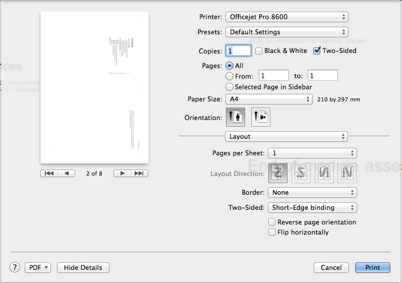 How to print booklets from your Mac – Thoughts on many things