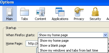 Show my windows and tabs from last time