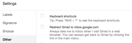 "Uncheck the option ""Redirect GMail to inbox.google.com"""