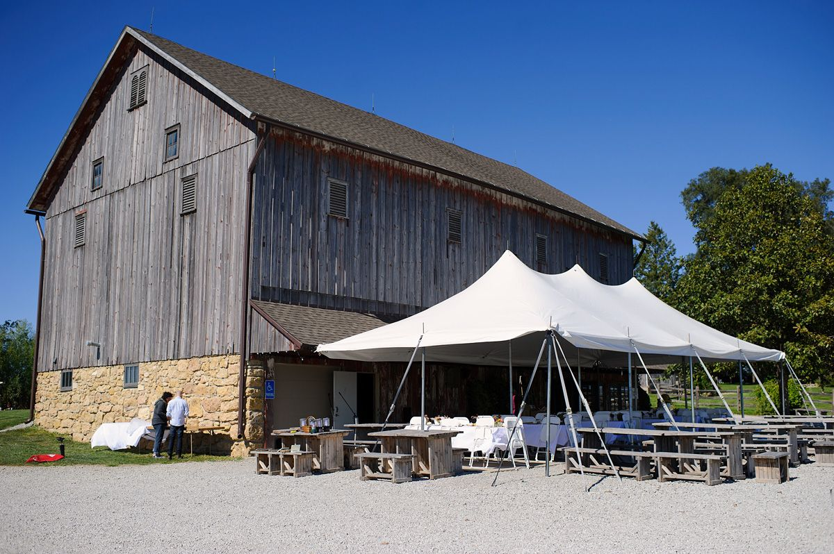 Exterior photo of the Sutliff Barn