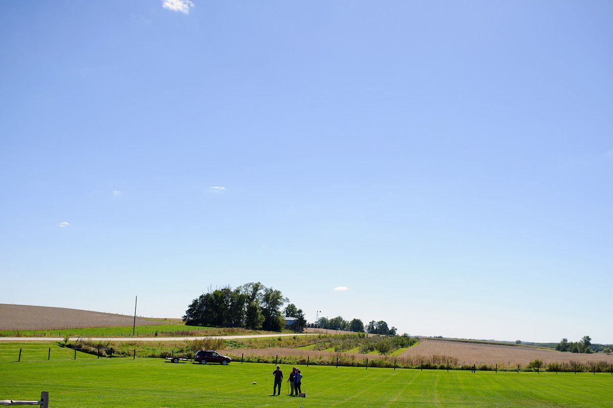 Big lawn in front of the Sutliff Barn