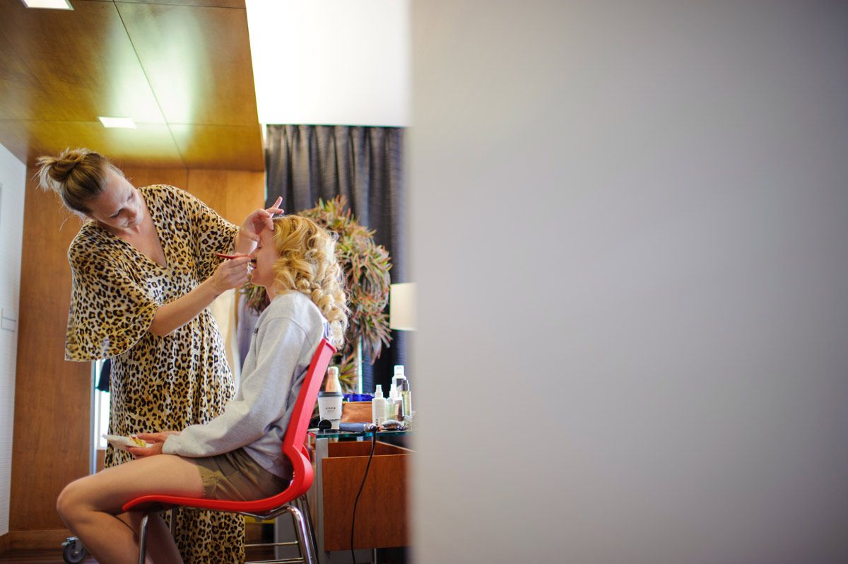 Bride getting ready - makeup