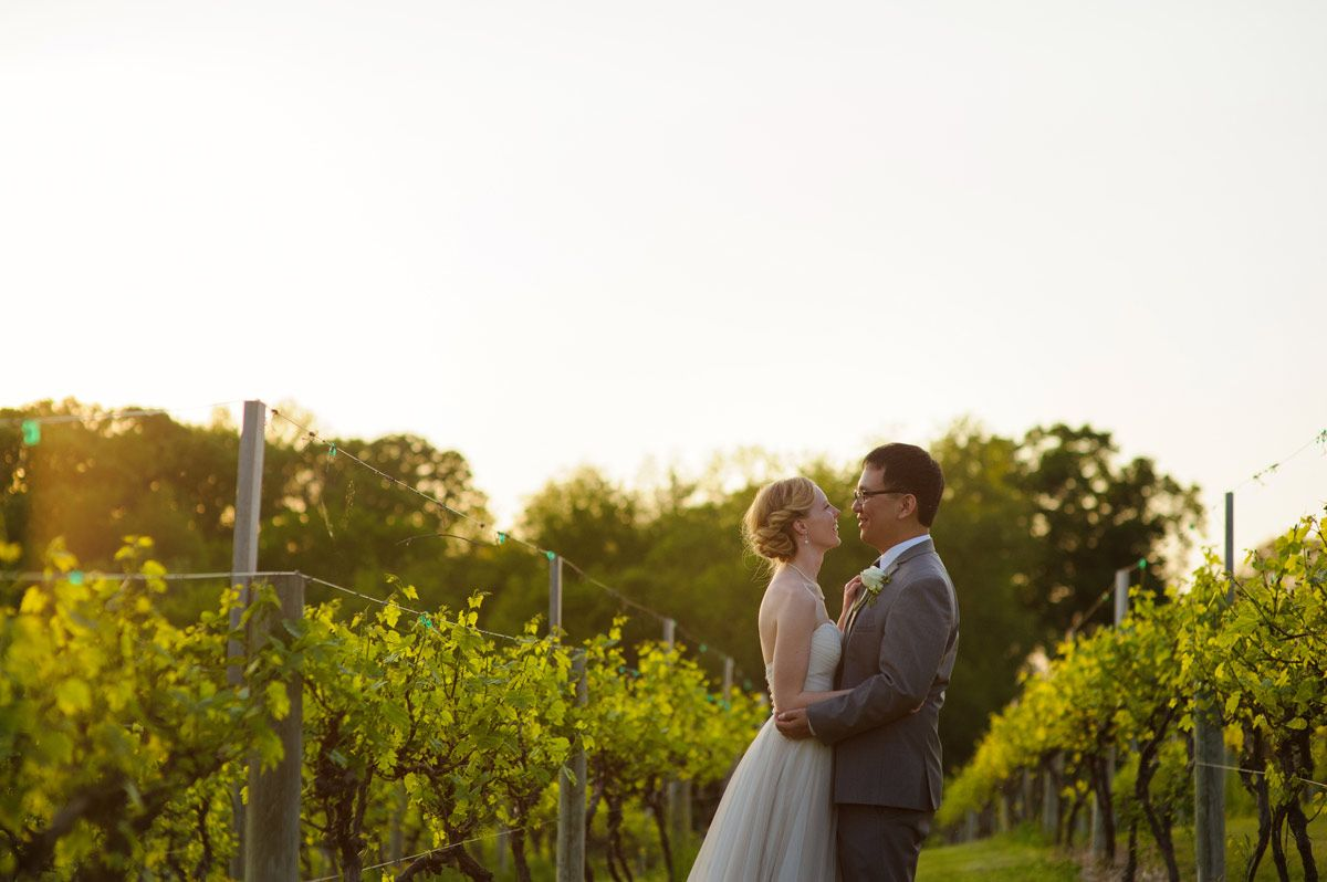 cedar rapids vinery wedding - portrait of the couple