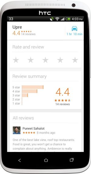 rating in google maps
