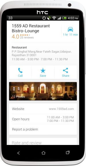 zagat in new google maps for android