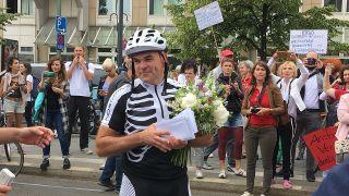 Heiko Schneider ist der Initiator des Physiotherapeutenprotests. (Quelle: rbb/Anna Corves)