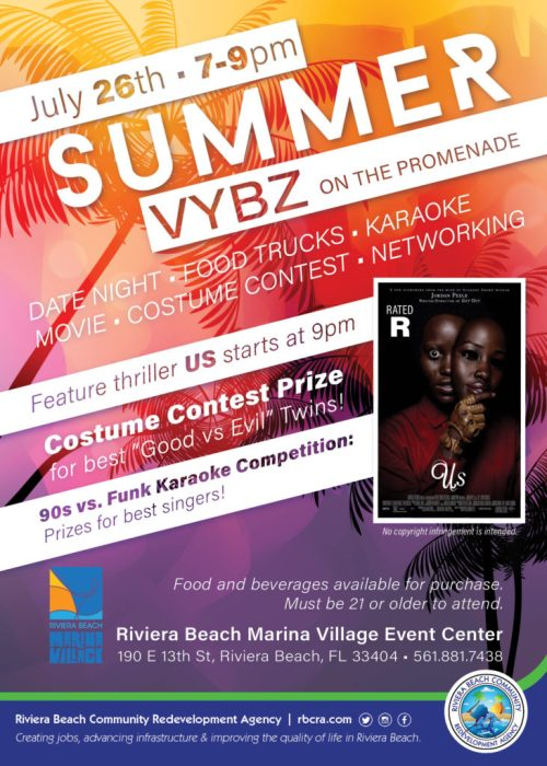 Summer Vybz on the Promenade - Riviera Beach Marina Village July event