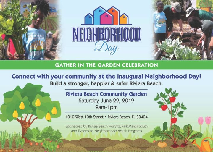 Neighborhood Day 2019 Riviera Beach Community Garden - Gather in the Garden Celebration Cover
