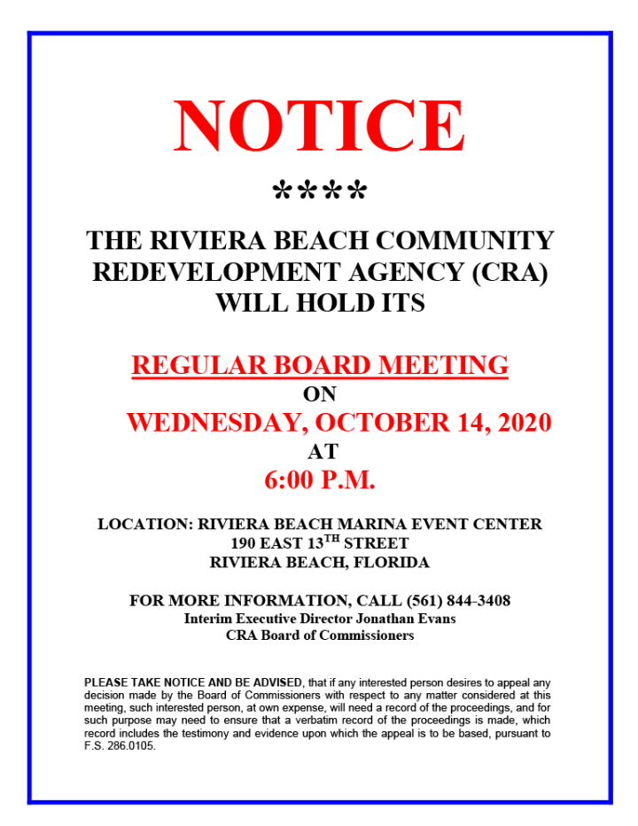 RBCRA-REGULAR-BOARD-MEETING-NOTICE--October-14-20