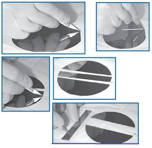 how to cut SiO2 wafer