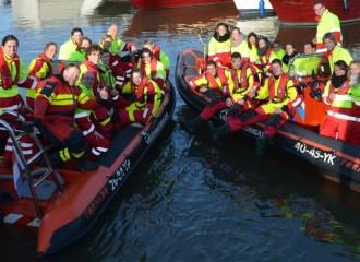 Reddingsbrigade-Dordrecht-beveiliging-calamiteiten-Wereld-Haven-Dagen-Rotterdam---Nautische-demonstratie-Dordtse-reddingsbrigade