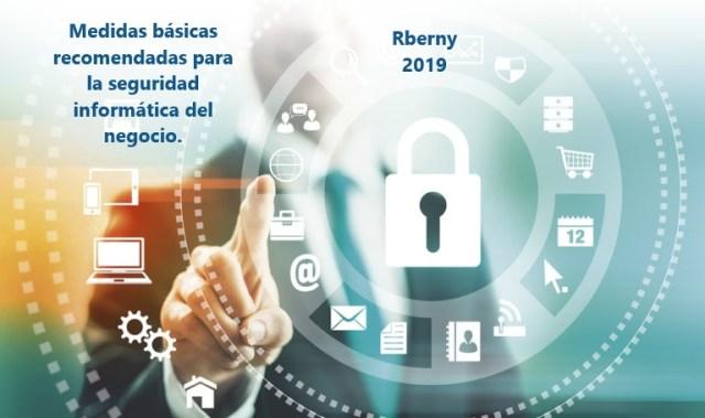 Medidas básicas recomendadas para la seguridad informática del negocio.