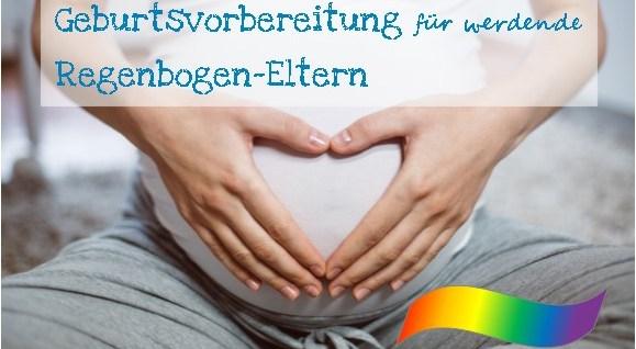 Werbebild mit Bauch einer Schwangeren