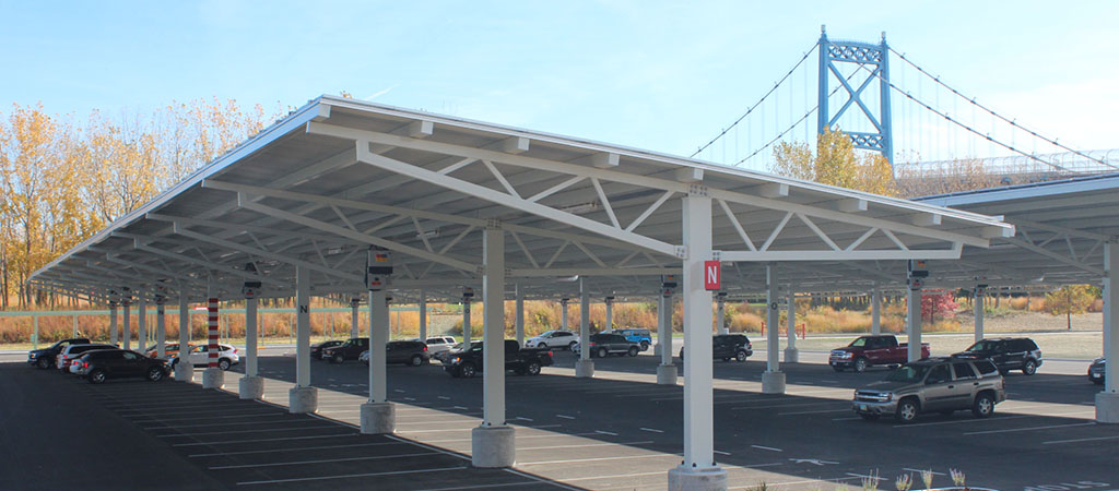 RBI Solar Carport Structures Steel Frame Solar Canopies