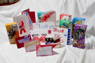 The Cadettes of Girl Scout Troop 50021 in Riverside have been sending Girl Scout cookies to and making thank you cards for emergency room workers are several area hospitals. (Photo courtesy of Linda Sanduski)