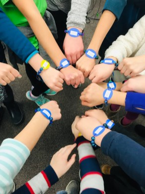 Central School Best Buddies friendship bracelets. (PROVIDED)