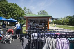 Guests check out the outdoor shop on July 2, during a members only day at the Brookfield Zoo in Brookfield. (Alex Rogals/Staff Photographer)
