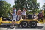 The band Zydeco Voodoo (above), a regular in the Riverside July 4 parade, pumps out the Cajun beat aboard a trailer pulled by a parks and rec truck during the Riverside July 4 parade.