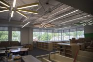 The new library is seen on Sept. 2, at A.F. Ames Elementary School in Riverside. (Alex Rogals/Staff Photographer)