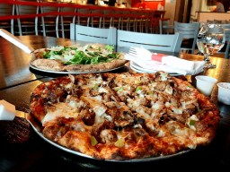 """The """"Beerwyn Supreme pizza"""" is one of the tavern style pizzas available at Flapjack Brewery"""