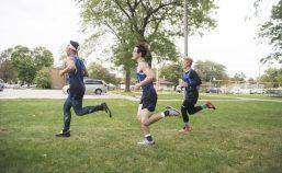 Runners make their way through the course around the park on Oct. 3, during the senior celebration meet against Northridge Prep at Elhert Park in Brookfield. (Alex Rogals/Staff Photographer)