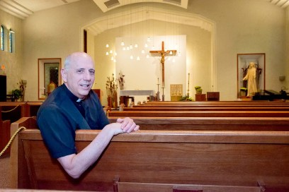 Father Tom May, pastor of St. Mary Parish in Riverside, says that facilities reports for each parish in the group may change initial scenarios already presented to the congregations. (Shanel Romain/Contributor)