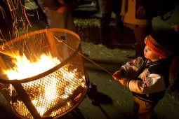 Jack Rooney, 2, roasts a marshmallow to a perfect well-done
