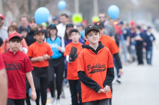 Forty-two teams, from t-ball to senior girls softball, marched down Brookfield Avenue toward Kiwanis Park, opening the baseball seasion with the Little League parade.