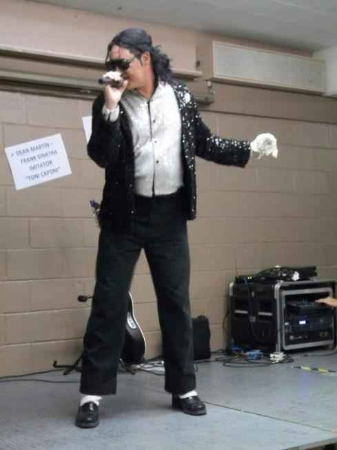 Michael Jackson impersonator, Larry Dvorak. Photo by Chris Stach.