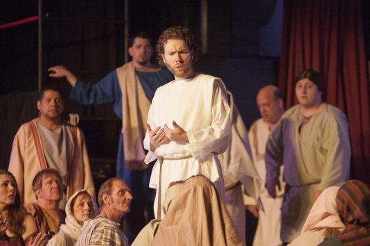 Ron Ben-Joseph as Jesus in the North Riverside Players' production of Jesus Christ Superstar. DAVID PIERINI/Staff Photographer