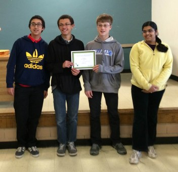 Eighth-grade math team from St. Louise de Marillac School in LaGrange Park