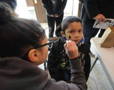 Richard DeLeon, 7, of Brookfield, got his face painted at Brookfield's Village Hall at the holiday celebration last year.