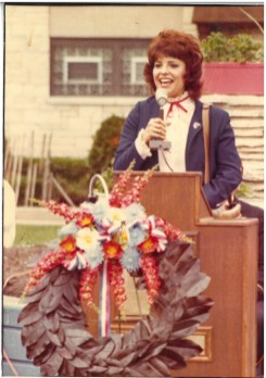 Undated photo from early in Topinka's political career.