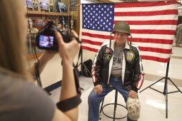 Adam Yurkiw, of Riverside, poses for a portrait during the RBHS Veterans Day ceremony on Nov. 11.