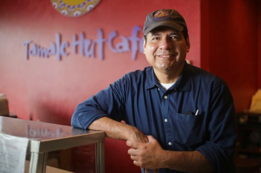 Jaime Flores, Owner of Tamale Hut Cafe, 8300 Cermak Road in North Riverside, on Friday, February 6, 2015. | Chandler West/Staff Photographer