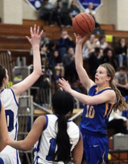 LTHS senior Vicki Swift is one of the best shooters in the Chicago area. (Chandler West/Staff Photographer)
