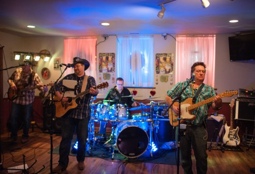 A country cover bands plays at Joe's Saloon on February 14th during Brookfields Mardi Gras Pub Crawl. | William Camargo: Contributing photographer