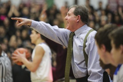In 19 seasons as the RBHS basketball head coach, Tom McCloskey has guided the Bulldogs to 14 consecutive conference titles, 282 wins since including a 139-12 conference record since 2001, a sectional championship and four regional titles. (Chandler West/Staff Photographer)