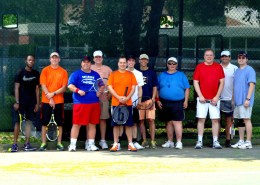 Several Gladiators gather together for a tennis tournament in the summer of 2014. (Courtesy Steve Hess)
