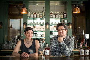 """Bottoms up: Artist Heather Hug and Quincy Street Distillery owner Derrick Mancini have teamed up to bring the """"Handmade Bourbon Bottle Exhibition"""" to Quincy Street this weekend. 