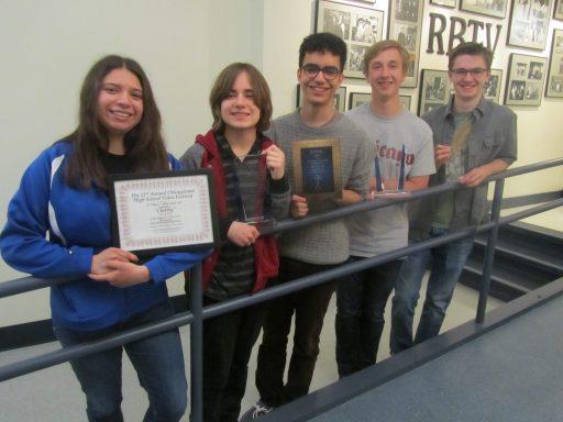 From left, Libby Creek, Sara Vacek, Lisandro Resto, Alec Frank and Colin Hughes