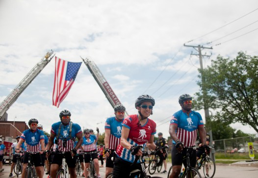 The Wounded Warriors Project, rode through the towns of Forest Park and Riverside-Brookfield on June 25, 2015, it ended at the Brookfield Zoo where they were met with zoo director. The Wounded Warriors Project is set out to bring awareness to the wounded soldiers that come back from conflict zones. | William Camargo/Staff Photographer