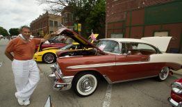 Roger Gibbs poses with his 1956 Chevy Bel Air HT.   Jennifer T. Lacey/Contributor