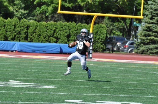 Running back/wide receiver Will Lattner is a versatile threat offensively for the Friars. (Photo by Jim Krecek)